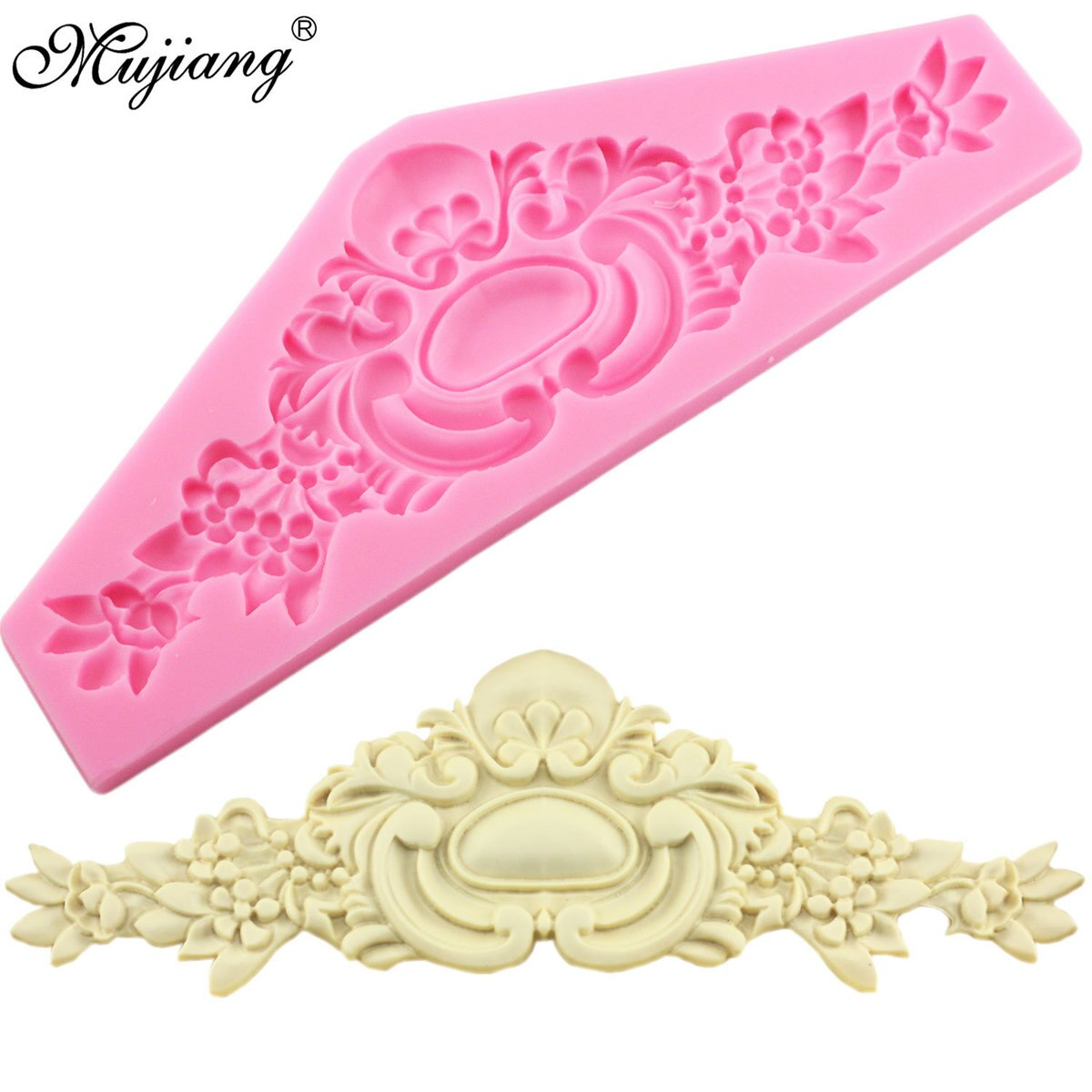 [해외]/European Crown Relief Silicone Mold Baking Flower Lace Chocolate Molds Wedding Fondant Decorating Tools Candy Fimo Clay Moulds